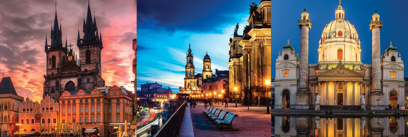 Прага, Дрезден, Вена